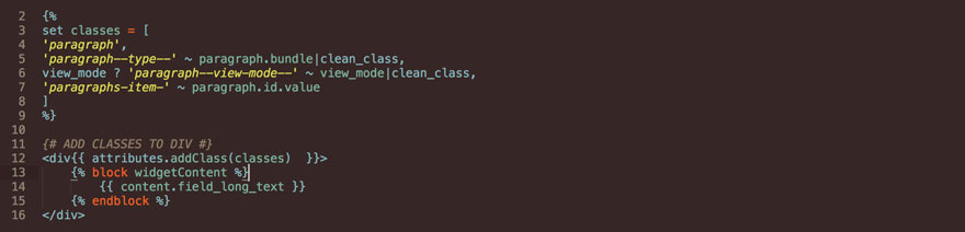 Twig attributes add class code example