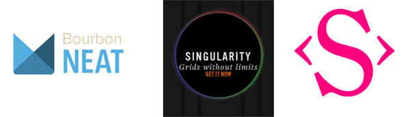 grid framework logos from Neat, Singularity and Susy