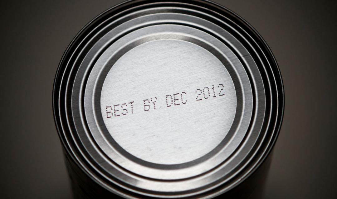"Can with ""best used by"" date printed on top"