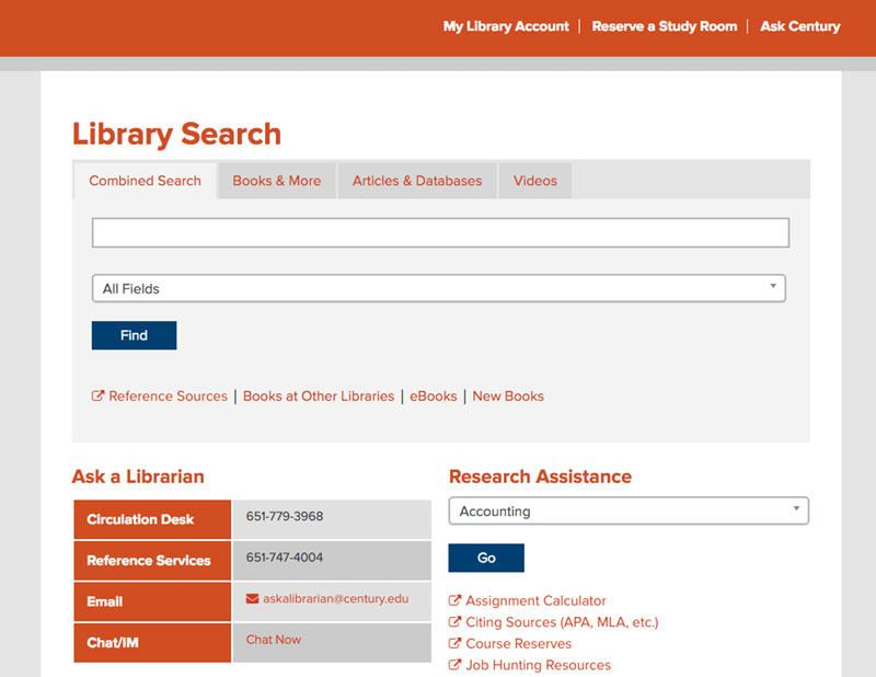 Century library page