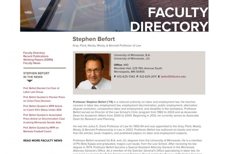 Law faculty page