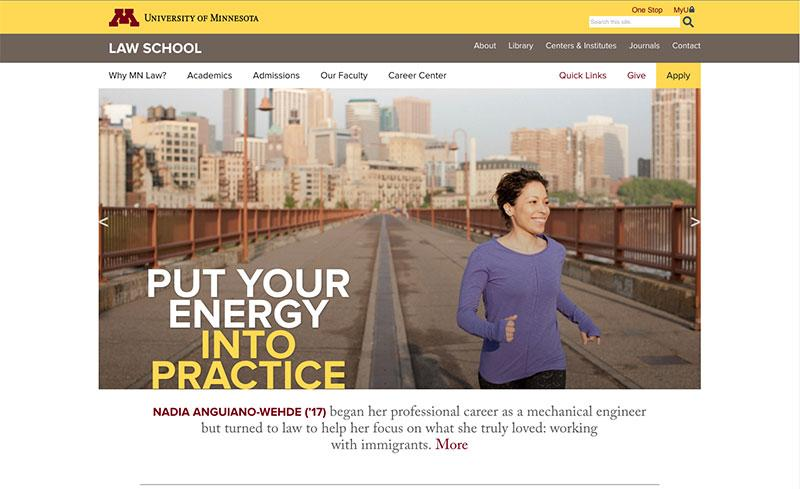 Law school homepage banner