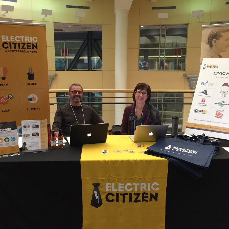 Electric Citizen booth at Minnesota Council of Non-Profits conference