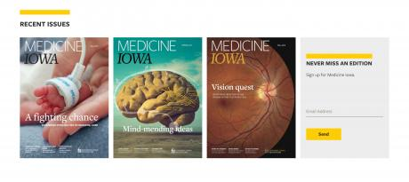 recent issues from Medicine Iowa homepage