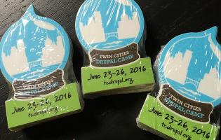 2016 stickers for Twin Cities Drupal Camp
